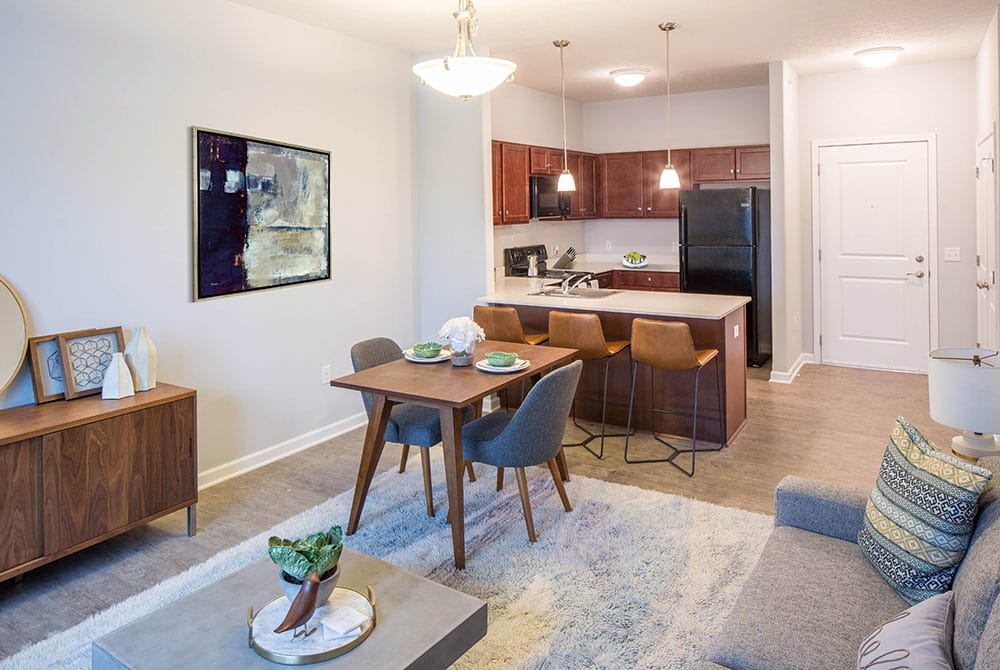 Dining area and Kitchen at Villa Capri Senior Apartments apartments for rent in Rochester