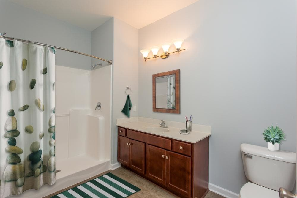 Example bathroom at apartments in Rochester, NY
