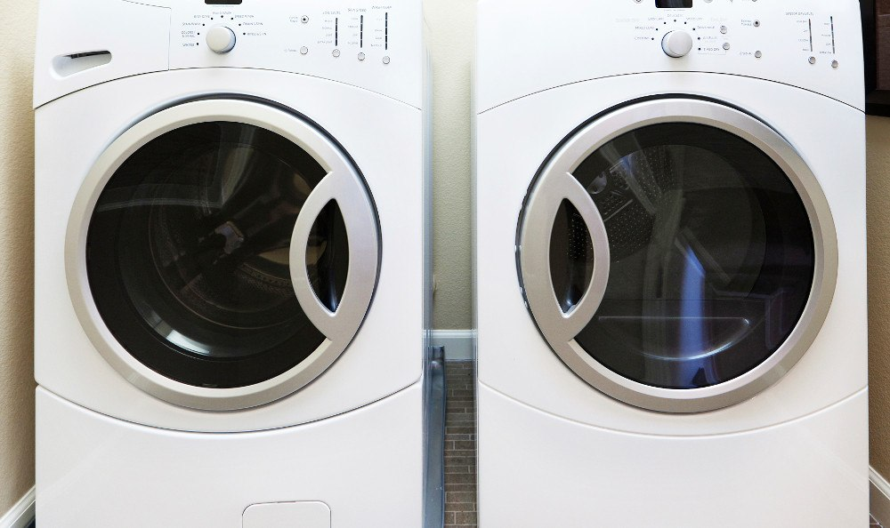 In-home washer and dryer in each apartment at Ellison Heights in Rochester, NY