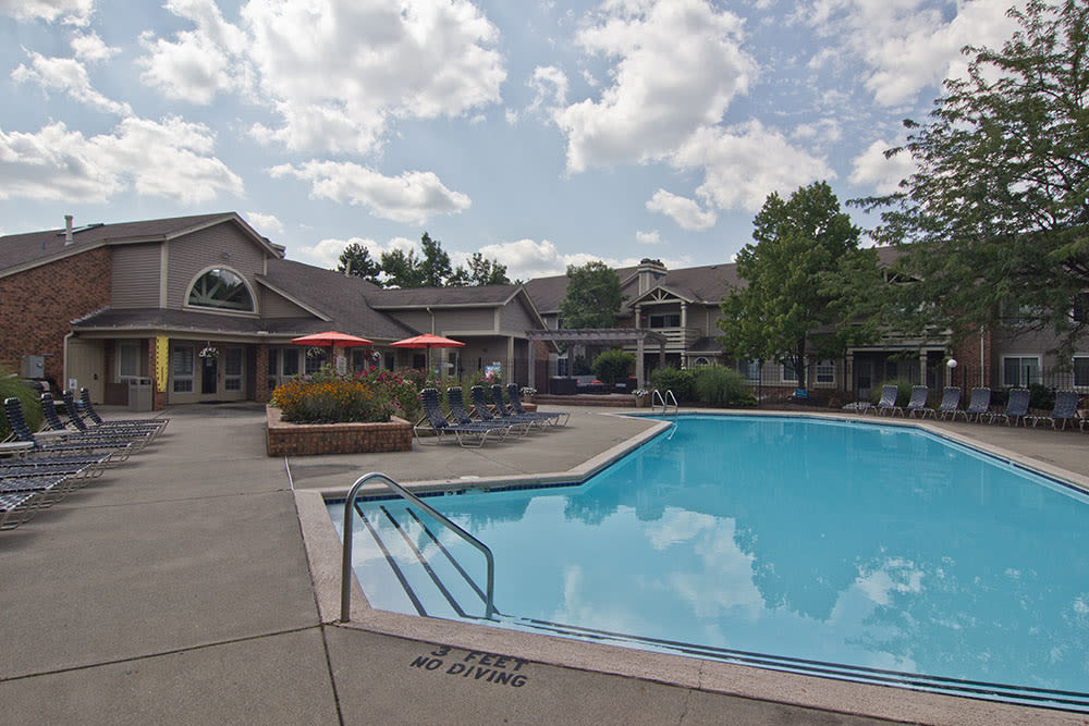Beautiful swimming pool at apartments in Perrysburg, Ohio