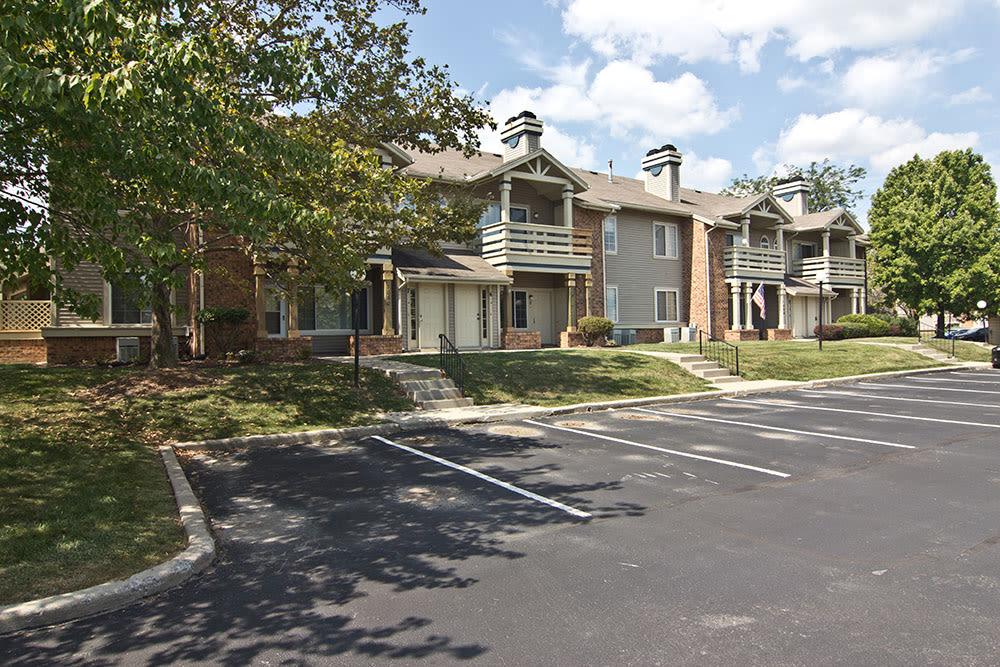 Parking area at apartments in Perrysburg, Ohio