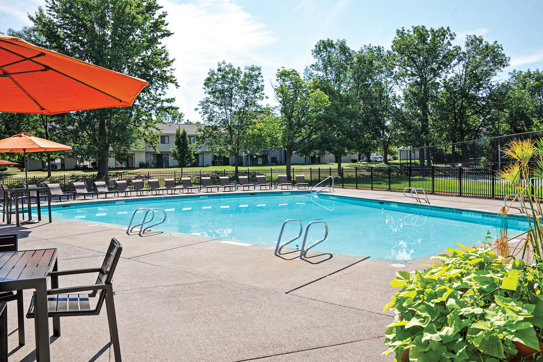 Pool at apartments in Penfield