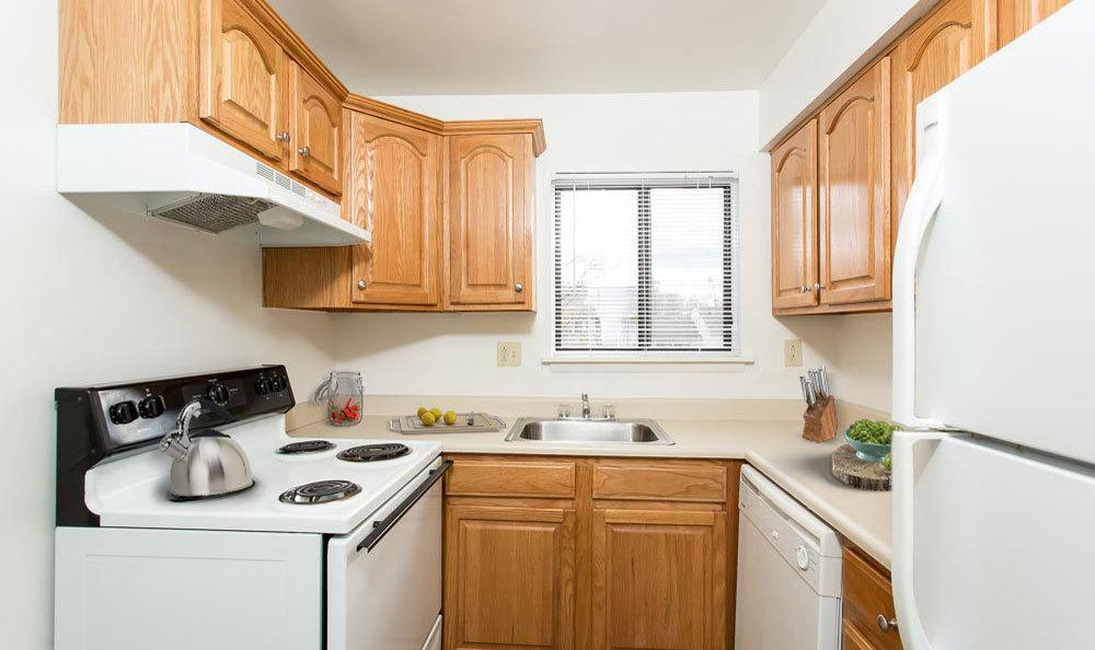 Nice clean kitchen in our Penfield, NY apartments