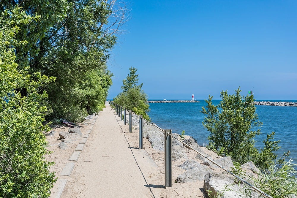 Walking paths ocean in Webster, New York