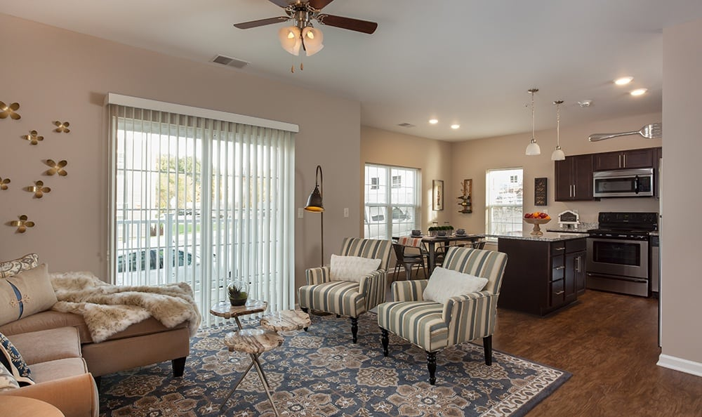 Spacious floor plans at the apartments for rent in Webster, NY