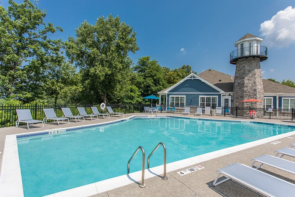 Pool at apartments in Webster