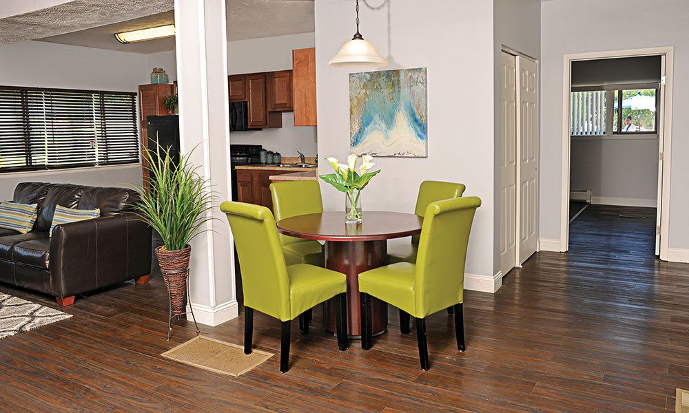 Spacious floor plans at the apartments for rent in Webster NY