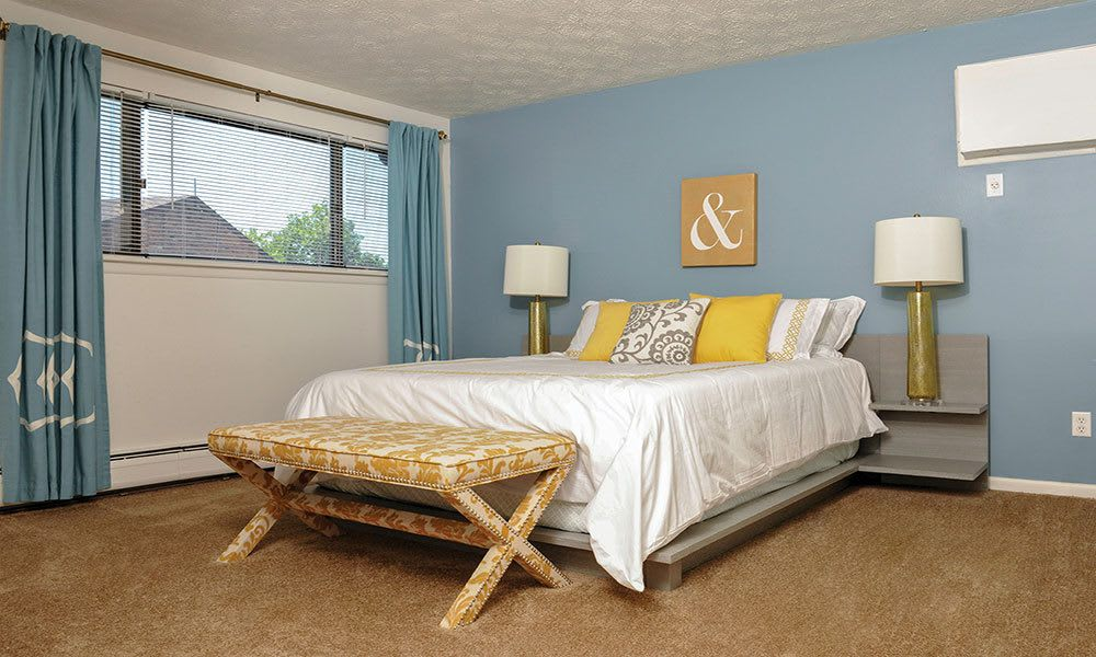 Example bedroom at apartments in Webster NY