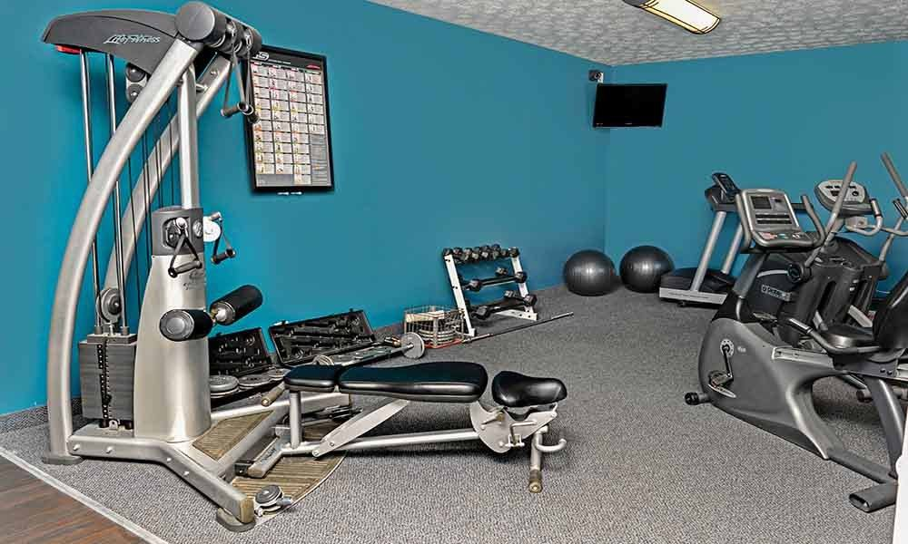 fitness center at apartments in Webster NY