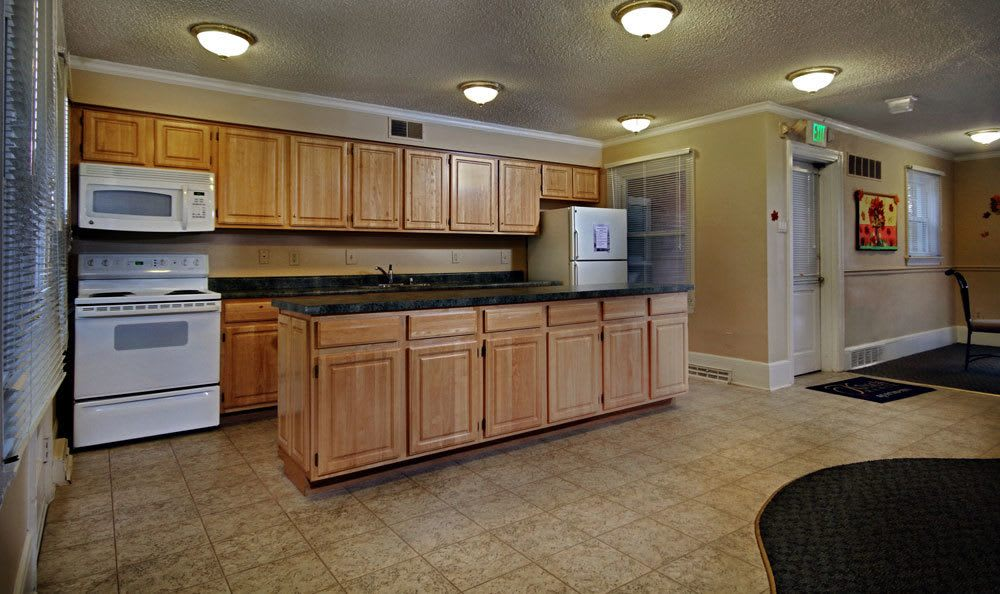 Model kitchen at apartments in Harrisburg, PA
