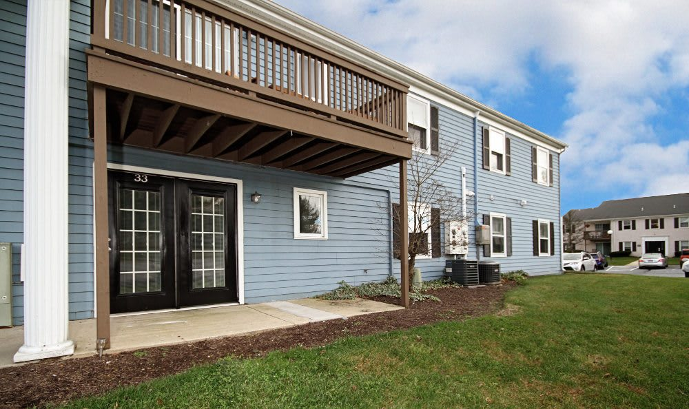 Balcony and patio area at The Village of Laurel Ridge in Harrisburg