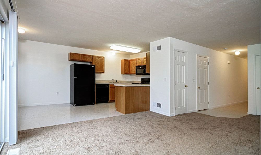 Dining area and Kitchen Entrance at Lion's Gate Townhomes apartments for rent in Red Lion