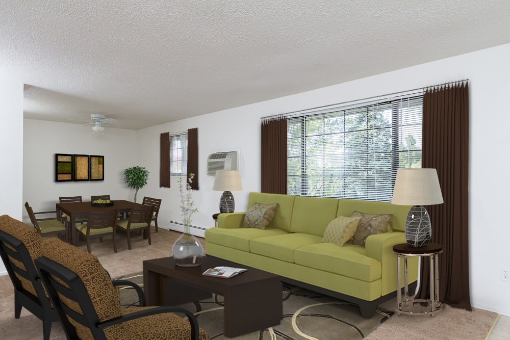 Example living area at Creek Hill Apartments