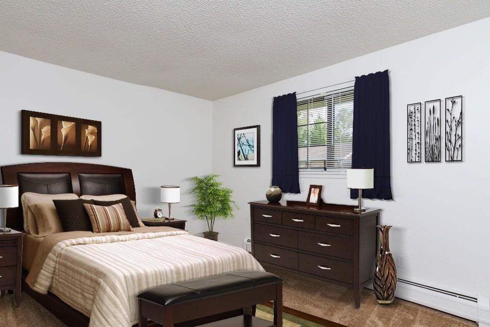 Example bedroom at Creek Hill Apartments