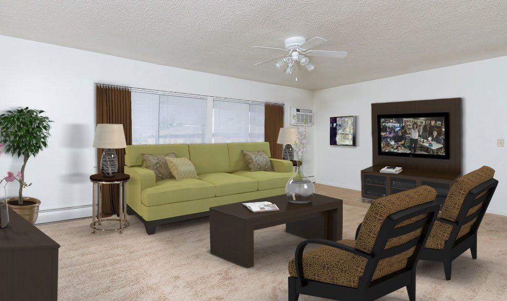 Living Room at Creek Hill Apartments