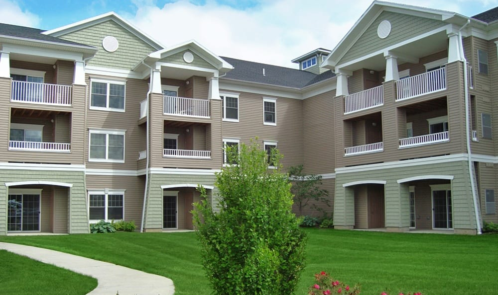 Exterior building of our apartments in Rochester, NY