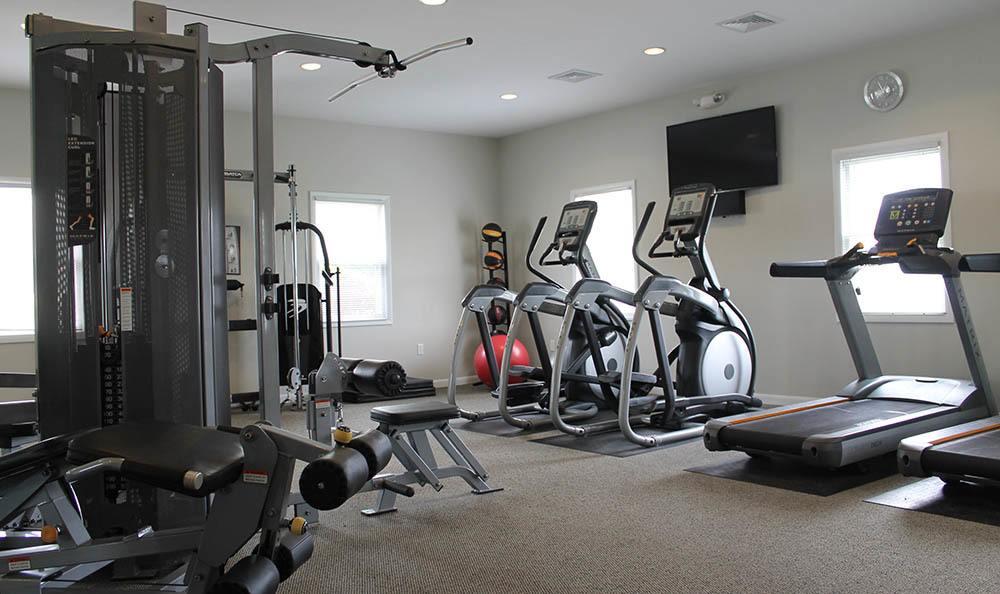 Fitness center at The Encore at Laurel Ridge