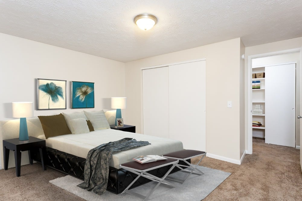 Example bedroom at apartments to rent in Brockport NY