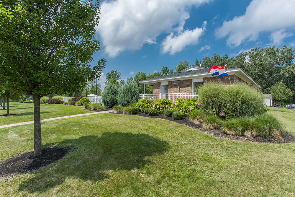 Spacious yards at Willowbrooke Apartments and Townhomes in Brockport, NY