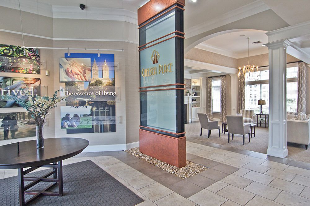 Beautiful clubhouse at Chelsea Place in Toledo, OH
