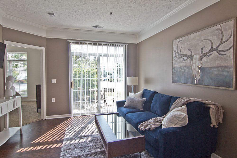 Beautiful living room at Preston Gardens in Perrysburg, OH