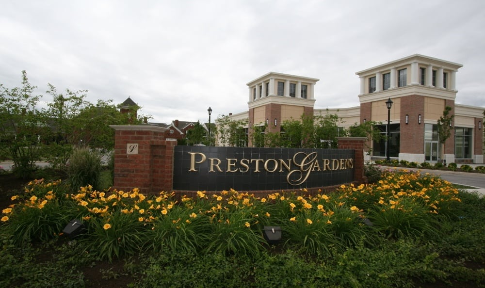 Monument Sign at Preston Gardens in Perrysburg, OH