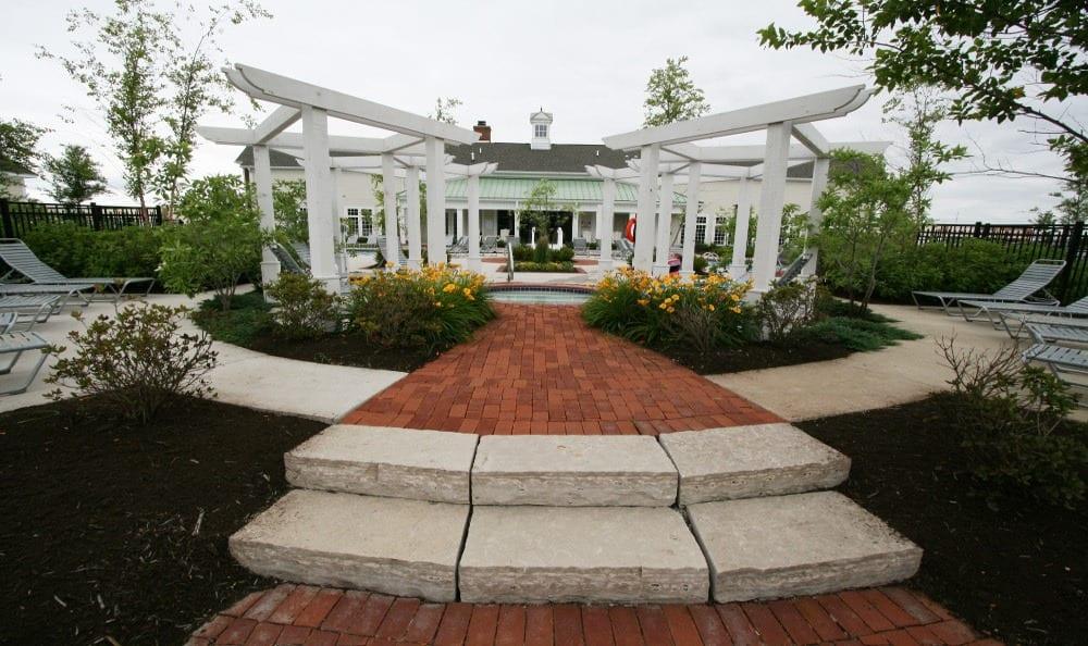 Outdoor Spa at Preston Gardens in Perrysburg, OH
