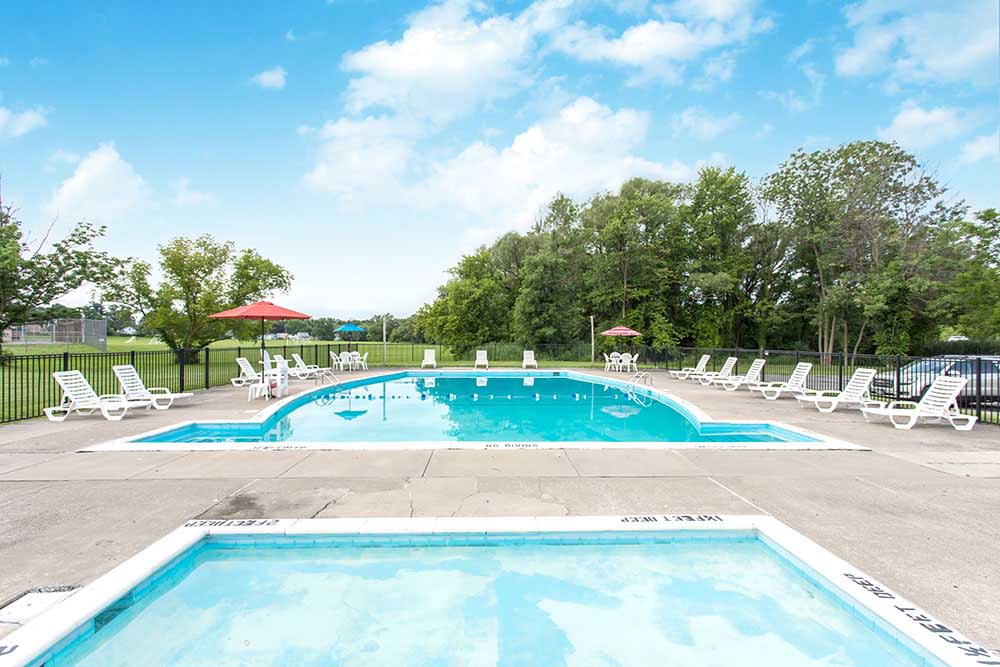 Orchard Estates offers a great for entertaining swimming pool in Mattydale, New York