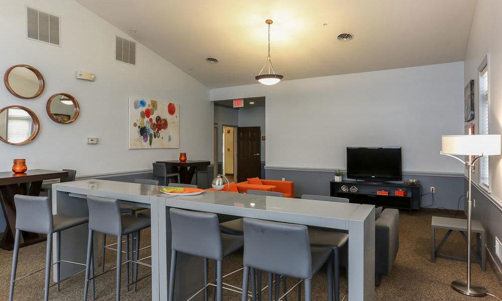 Media center at CenterPointe Apartments and Townhomes