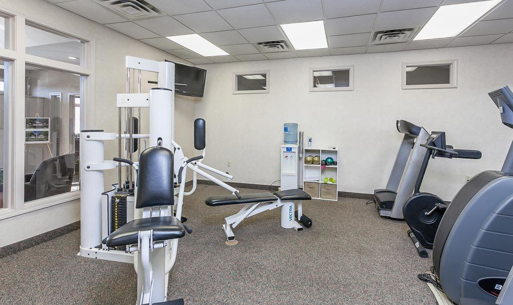 Fitness center at CenterPointe Apartments and Townhomes