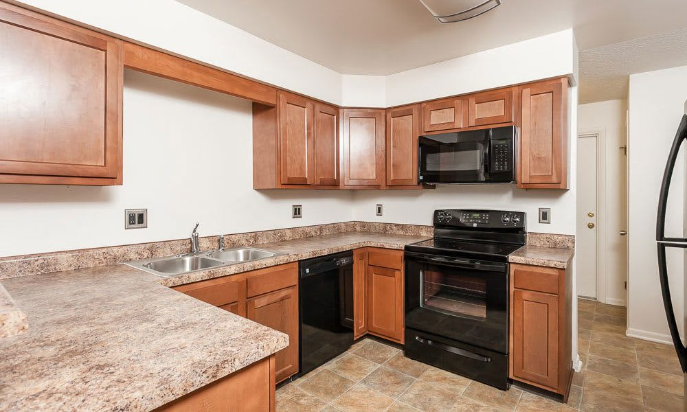 Nice clean kitchen in our Canandaigua, NY apartments