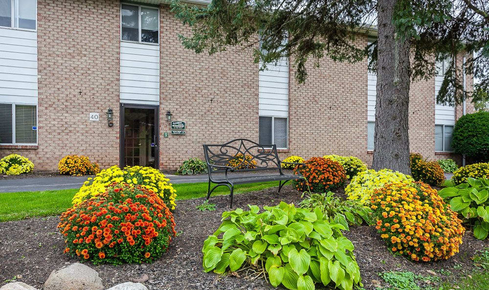 Exterior view of our apartments in Rochester, NY