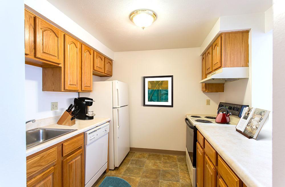 Bright kitchen at Riverton Knolls in West Henrietta, NY