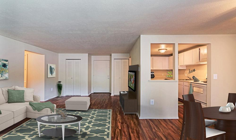 Nice hardwood floors in our South Park, PA apartments