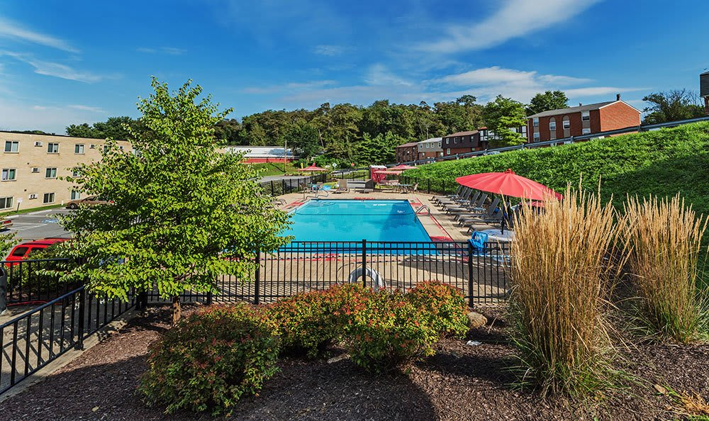 Pool at apartments in South Park