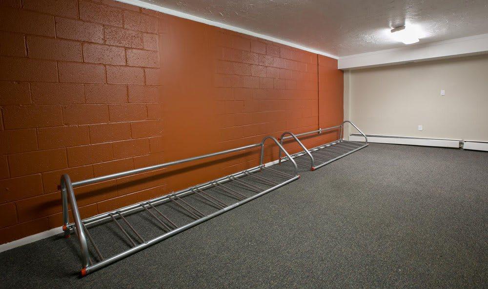 Bike racks at Solon Club Apartments in Oakwood Village, OH