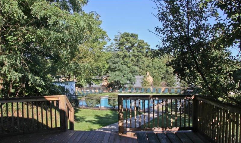 The Cascades Townhomes and Apartments Porch View