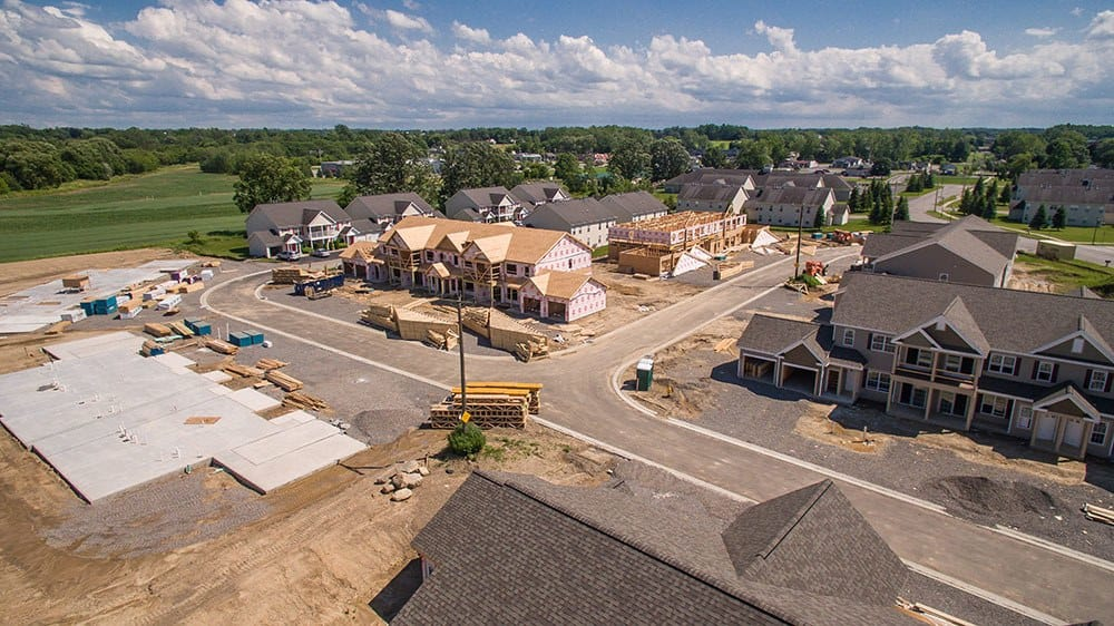 Aerial under construction view of our apartments in Avon, NY