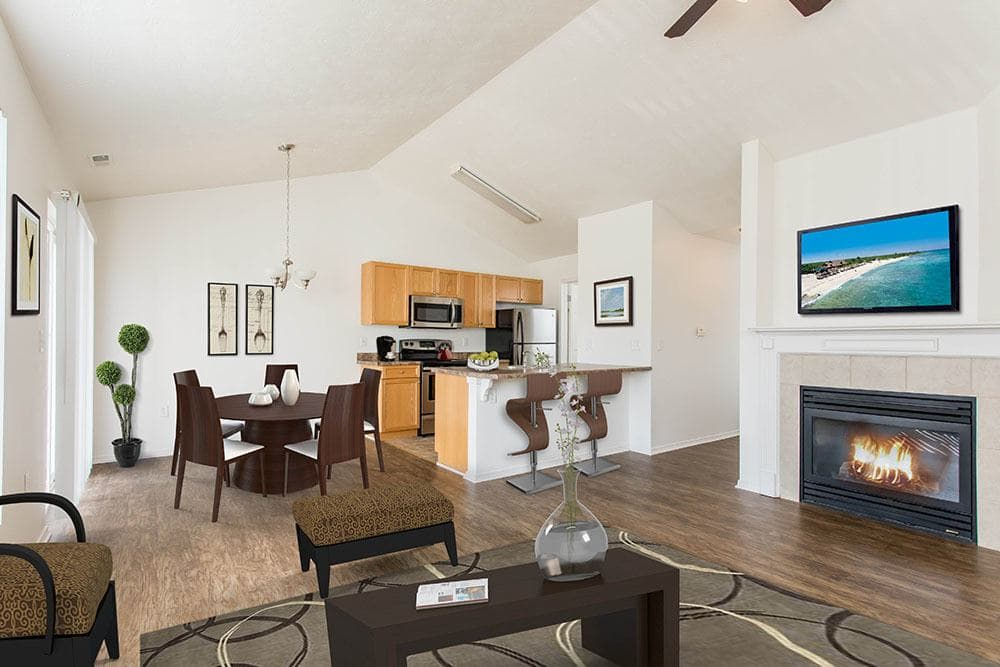 Nice hardwood floors in our Avon, NY apartments