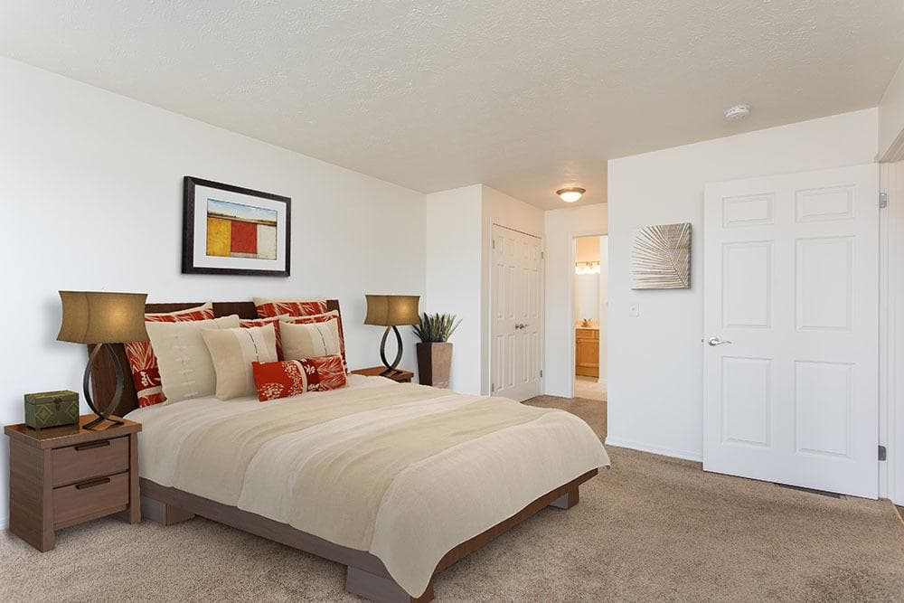 Spacious bedroom at apartments in Avon