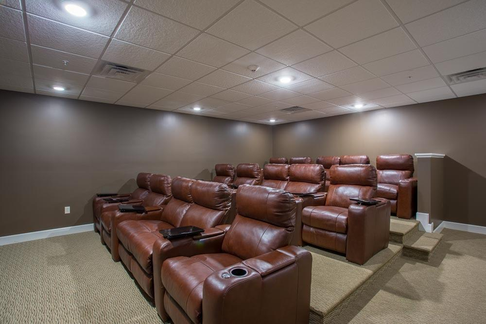 Theater Room at Marquis at the Woods in Webster, NY