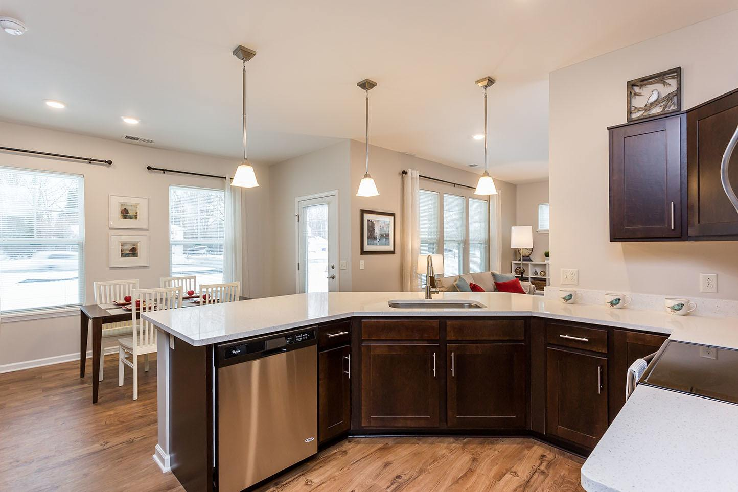 Townhome Kitchen and Dining Room at Marquis at the Woods