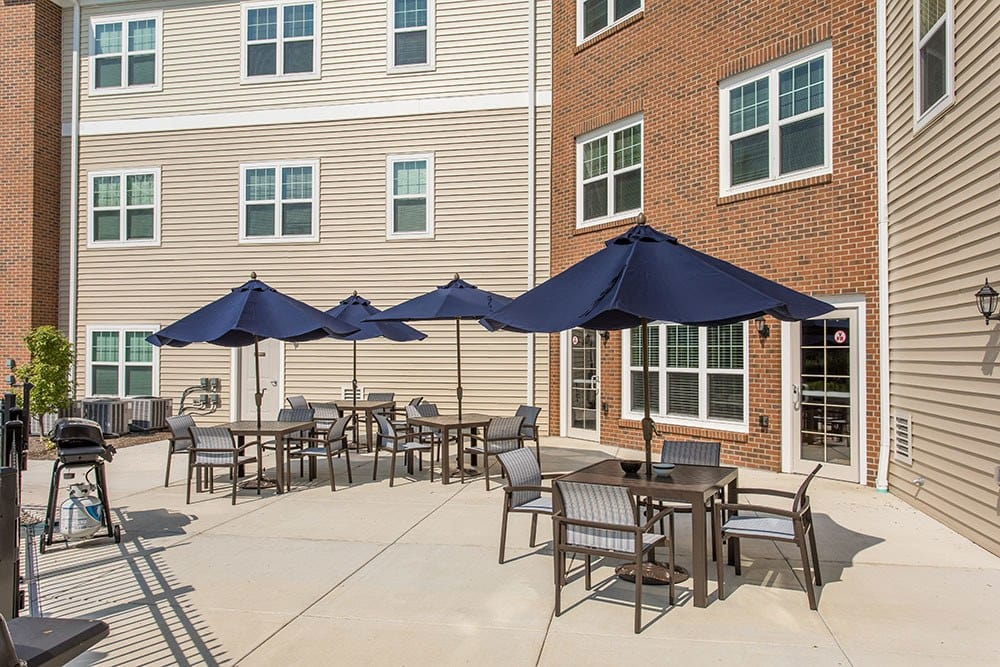A bbq area that is great for entertaining at apartments in Webster, NY