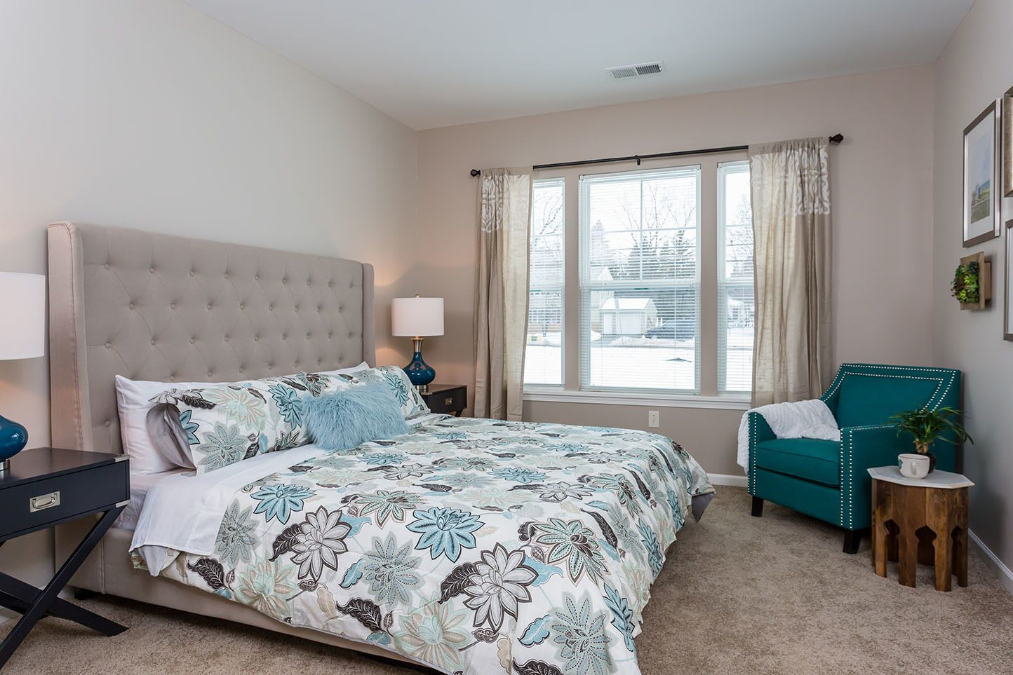 Master Bedroom of Townhome at Marquis at the Woods