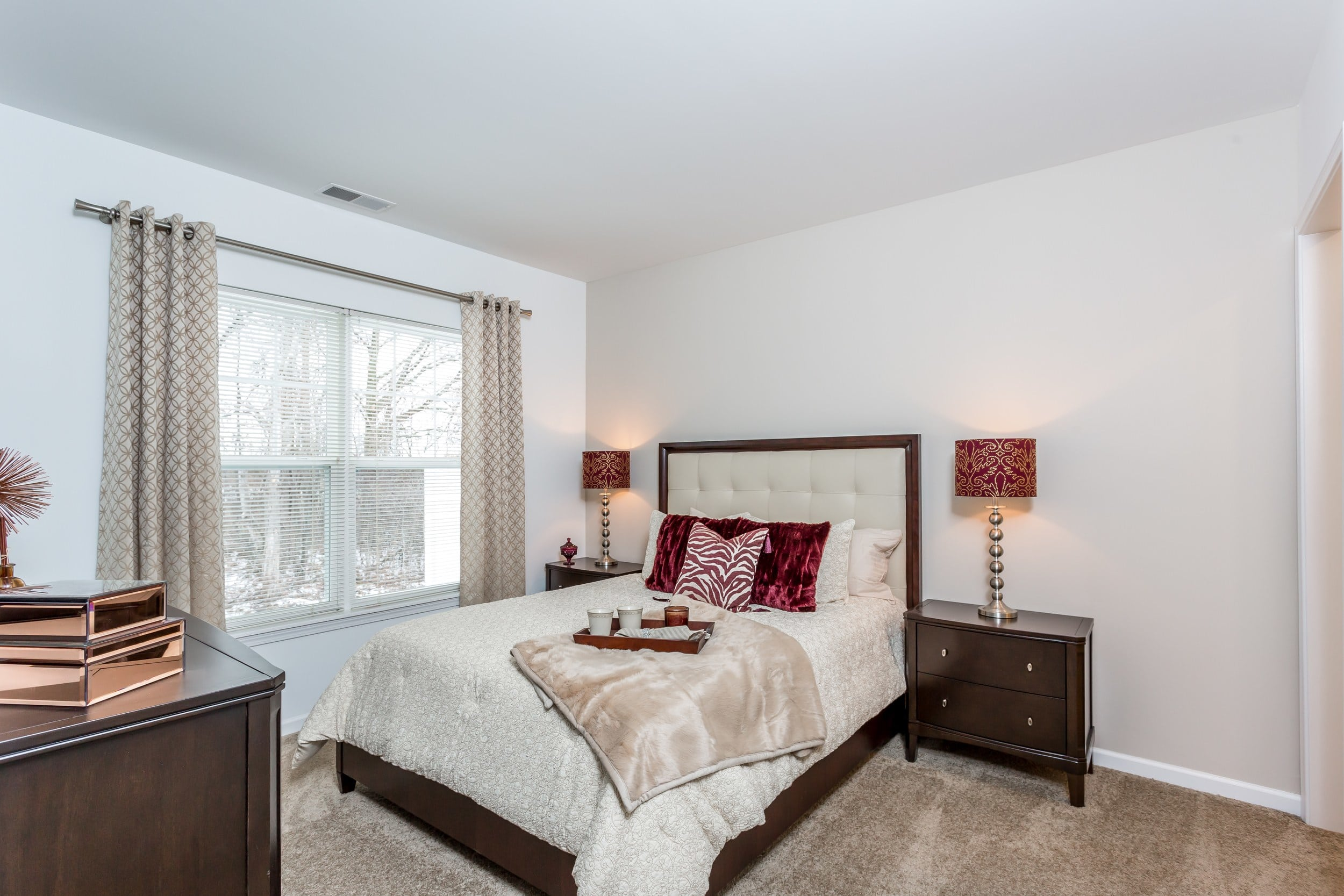 Comfortable bedroom in our Canandaigua, NY apartments