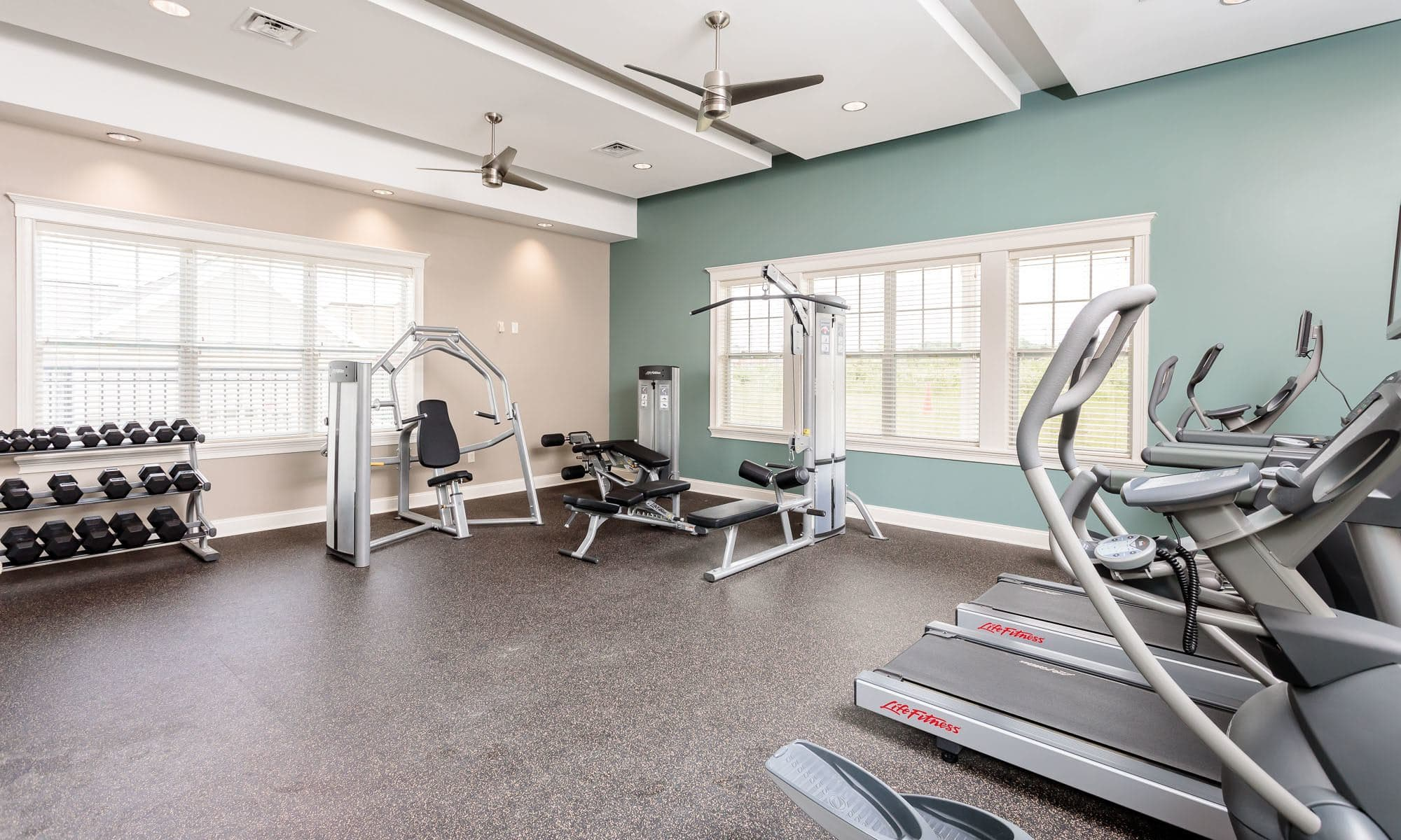 fitness center at Canal Crossing