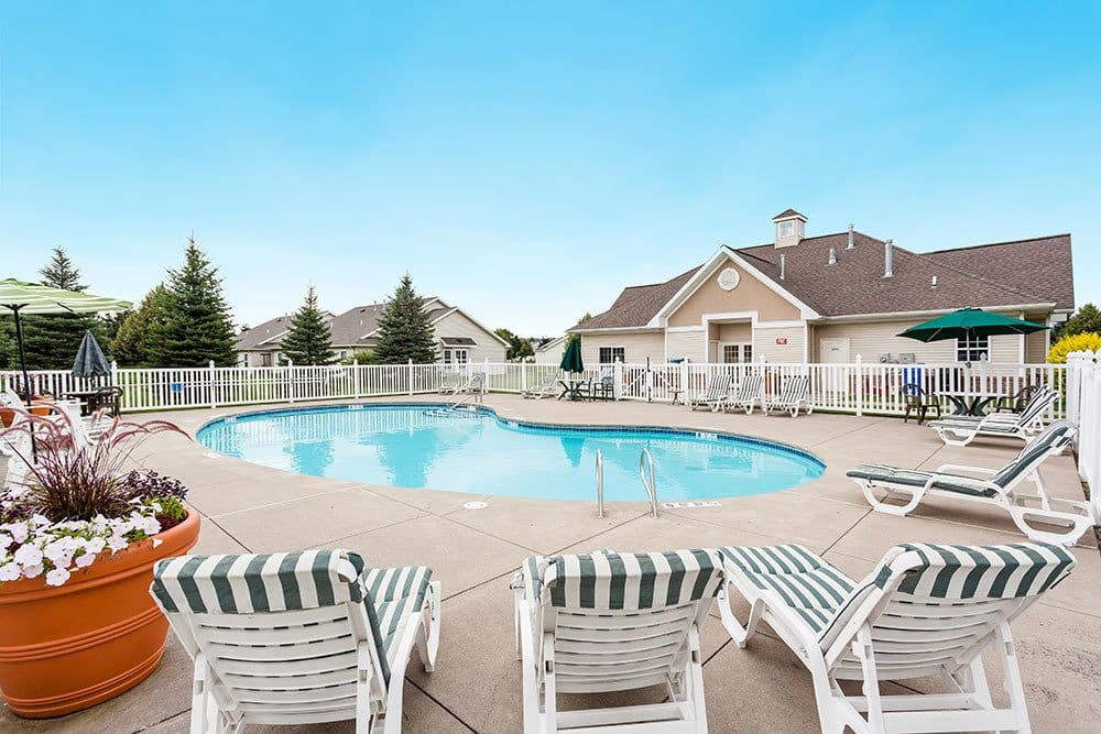 Pool at apartments in Victor