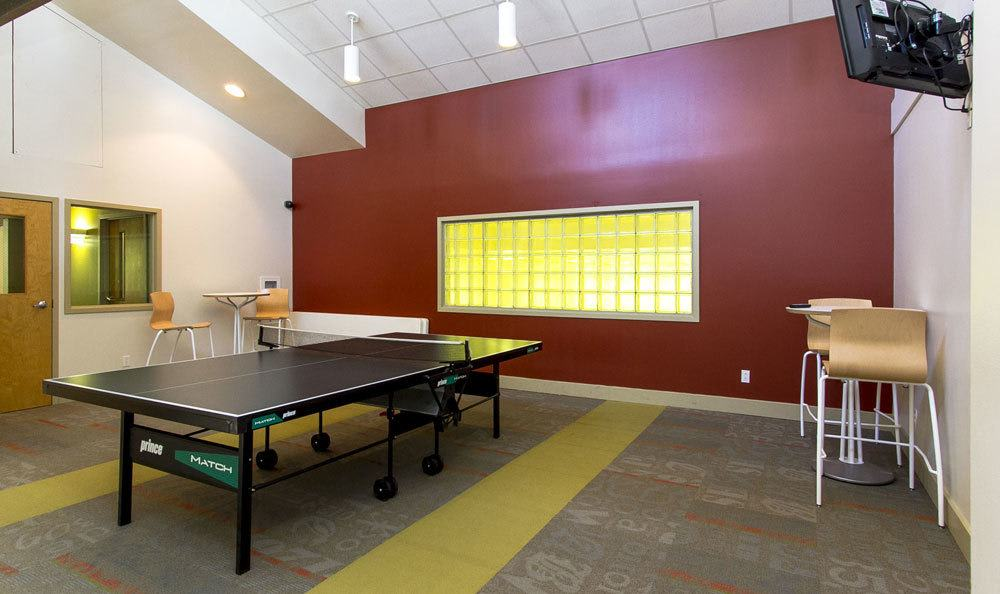Tonawanda apartments includes a ping pong table