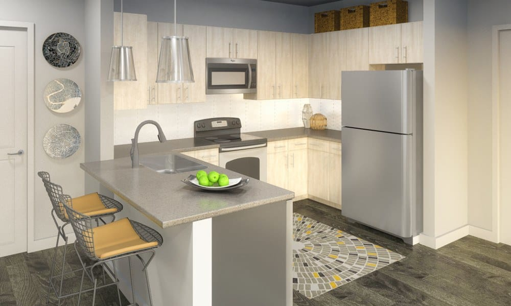 Kitchen at Ellison Heights Apartments in Rochester, NY