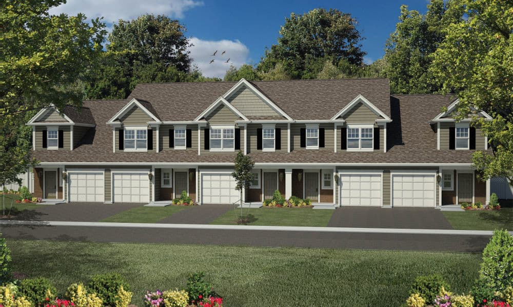 Every townhome comes with a garage at Woodland Acres Townhomes in Liverpool, NY near Syracuse